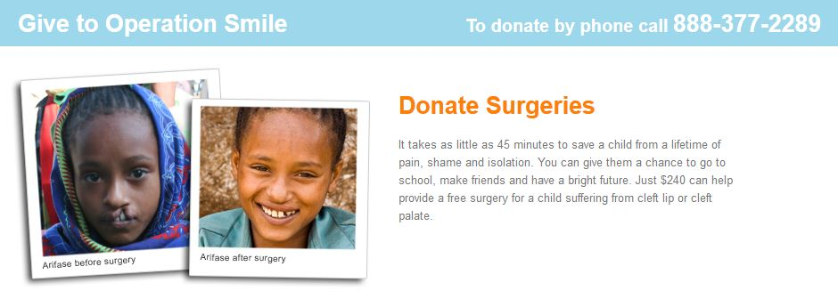 Donate to Operation Smile Logo